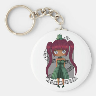 The frog and the girl. keychain