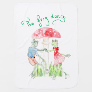 """The Frog Dance"" Baby Blanket"