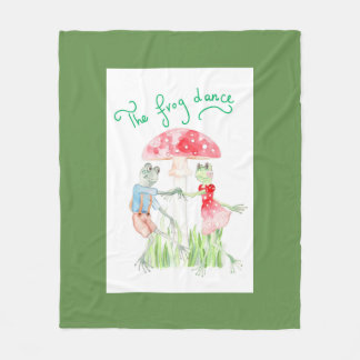 """The Frog Dance"" Fleece Blanket Medium"