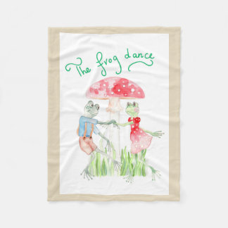 """The Frog Dance"" Fleece Blanket Small"