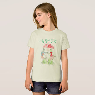 """The Frog Dance"" Girls' Organic T shirt"