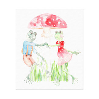 """The Frog Dance"" Kids Canvas Print 19.35"" x 23.07"""