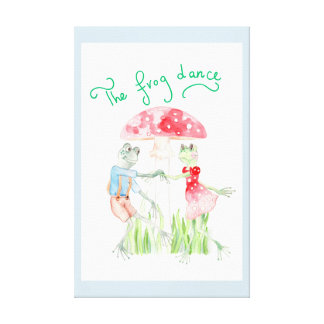 """The Frog Dance"" Kids Canvas Print 20.91"" x 32.43"""