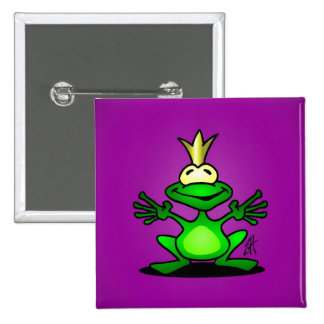 The Frog Prince 2 Inch Square Button