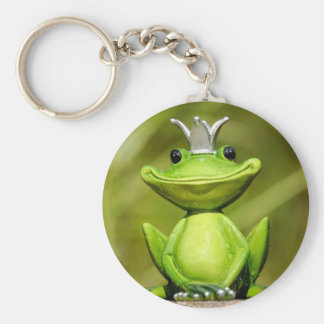 The Frog Prince Basic Round Button Keychain
