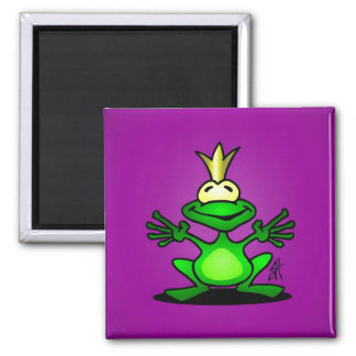 The Frog Prince Square Magnet