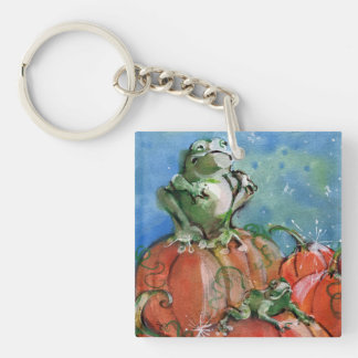 The Frog Single-Sided Square Acrylic Keychain