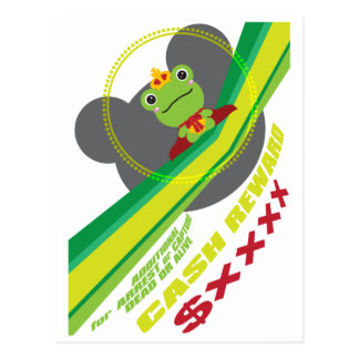 The frog which did not fit a prince postcard