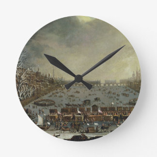 The Frost Fair of the winter of 1683-4 on the Tham Wallclocks