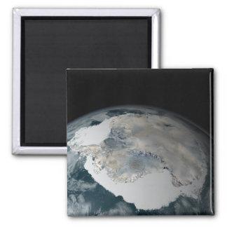 The frozen continent of Antarctica Magnet