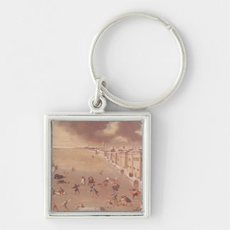 The Frozen Lagoon in 1708 Silver-Colored Square Keychain