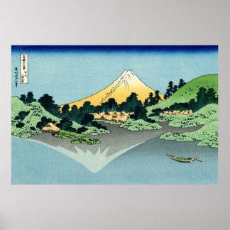 The Fuji reflects in Lake Kawaguchi Poster