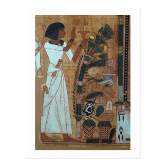 The Fumigation of Osiris, page from the Book of th Postcard