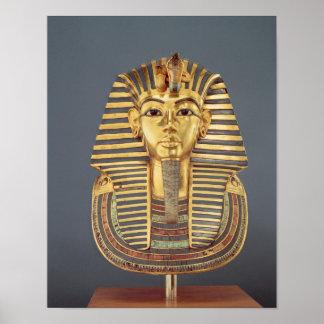 The funerary mask of Tutankhamun Poster