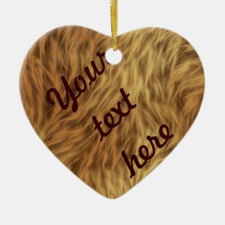 The fur collection - Shaggy Fur Ceramic Ornament