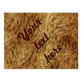 The fur collection - Shaggy Fur Postcard