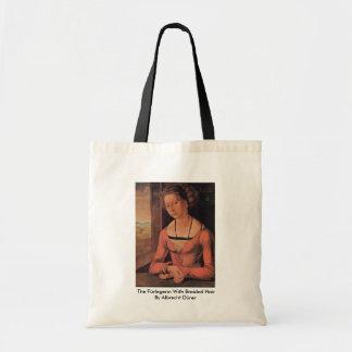 The Fürlegerin With Braided Hair By Albrecht Dürer Canvas Bags