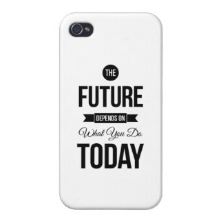 The Future Inspirational Quotes White Case For iPhone 4