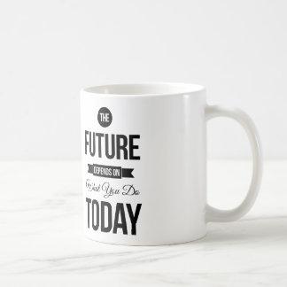 The Future Inspirational Quotes White Coffee Mug