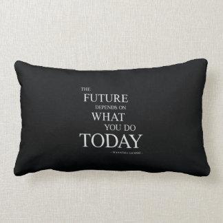 The Future Inspiring Motivational Quote Lumbar Pillow