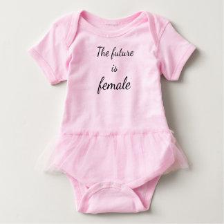 The Future is Female Baby Tutu Bodysuit