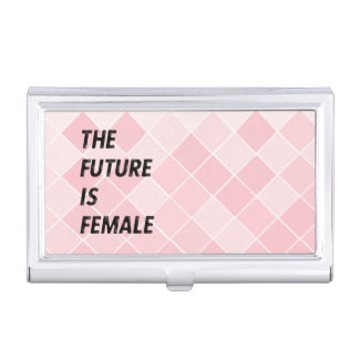 The Future Is Female Business Card Holder