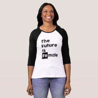 The Future is Female | Fe Bold Chem Symbol 3/4 Tee
