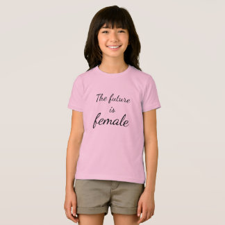 The Future is Female Girls' Fine Jersey T-Shirt