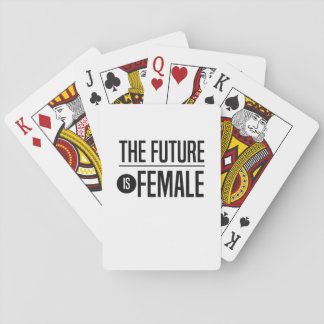 The Future is Female Playing Cards