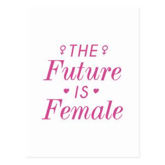 The Future Is Female Postcard