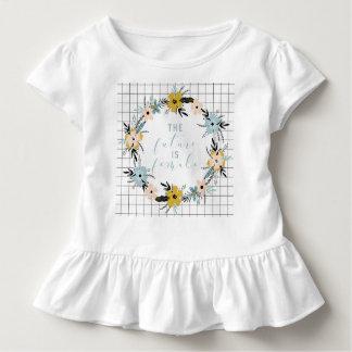 The Future is Female Toddler Ruffle Tee