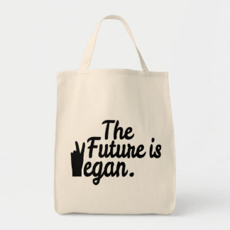 THE FUTURE IS VEGAN. GROCERY TOTE BAG