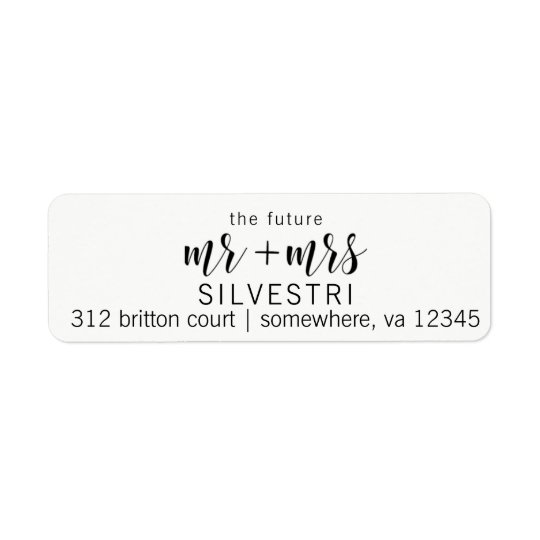 The Future Mr and Mrs Return Address Labels
