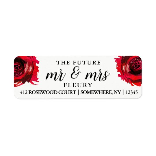 The Future Mr and Mrs Return Address Labels Rose