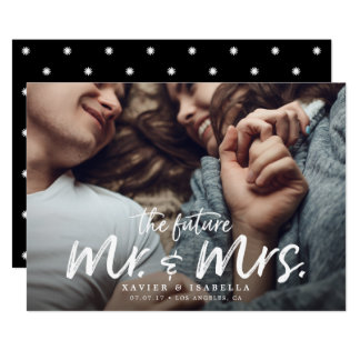 The Future Mr. & Mrs. Engagement Save The Date Card