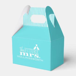 The Future Mrs.-Blue Wedding Favor Box