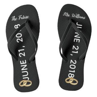The Future Mrs Bridal Flip Flops   Custom Name