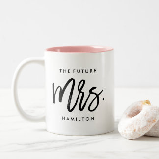 The Future Mrs. Personalized Engagement Two-Tone Coffee Mug