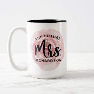 The Future Mrs. Watercolor Floral Mug