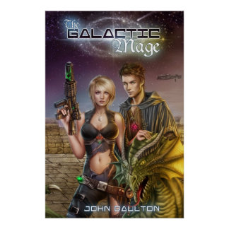 The Galactic Mage Book Cover Poster