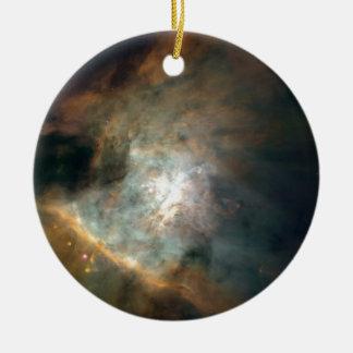 The Galaxy Round Ceramic Ornament