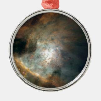The Galaxy Silver-Colored Round Ornament