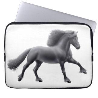 The Galloping Friesian Horse Electronics Bag Laptop Computer Sleeve