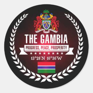 The Gambia Classic Round Sticker