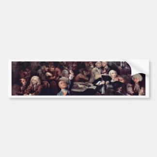 "The Gambling Den "" By Hogarth William Bumper Sticker"