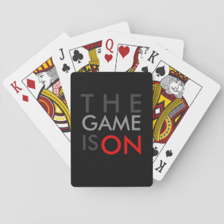 THE GAME IS ON - Competitive Cards Black Red Gray