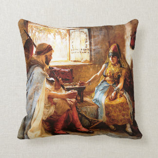 The Game of Chance Throw Pillow
