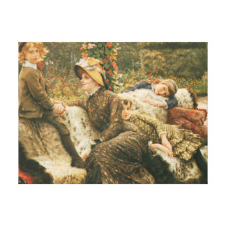 The Garden Bench James Tissot Fine Art Canvas Print