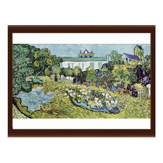 The Garden Daubigny By Vincent Van Gogh Postcard