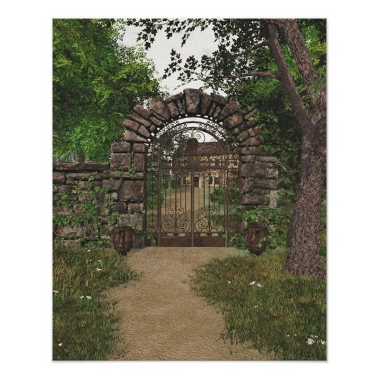 The Garden Gate Poster Print